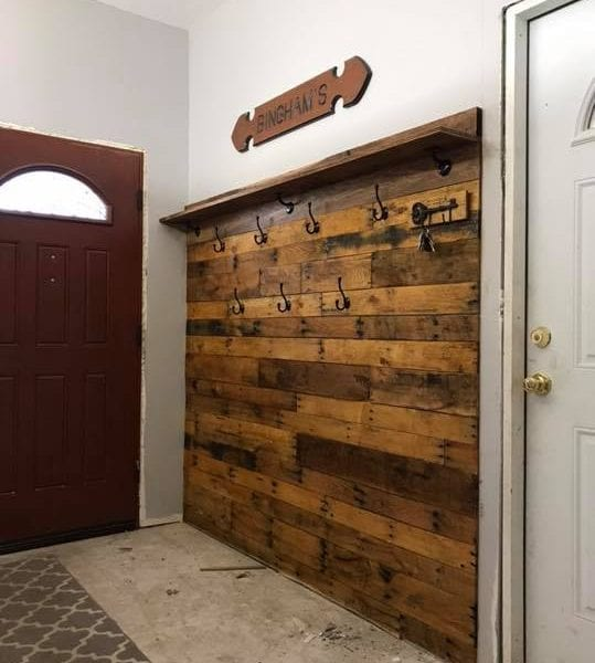 Custom Reclaimed Wood Entryway Wakefield MA