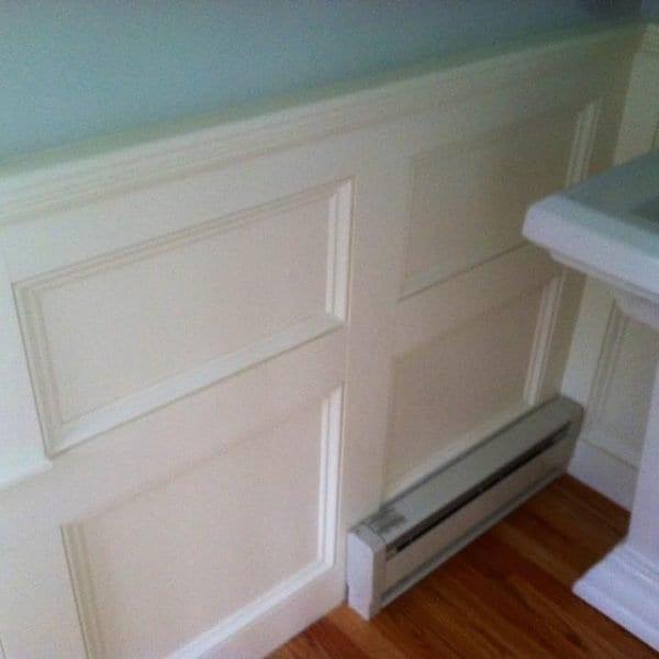 Custom Bathroom Wood Paneling Melrose MA