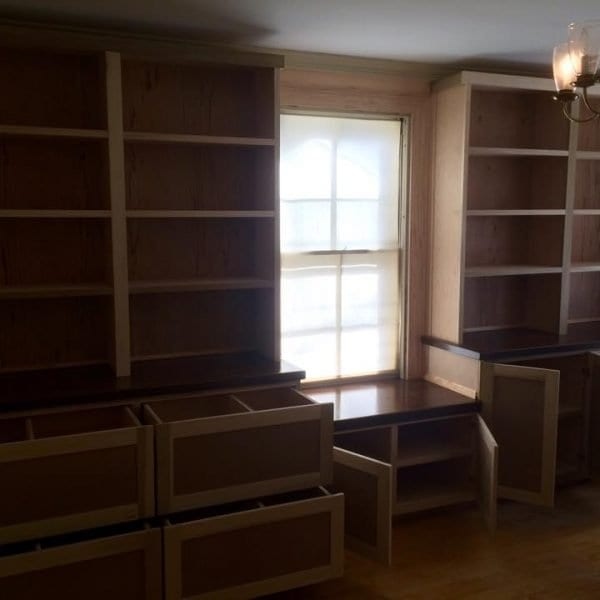 Custom Wood Office Storage Melrose MA