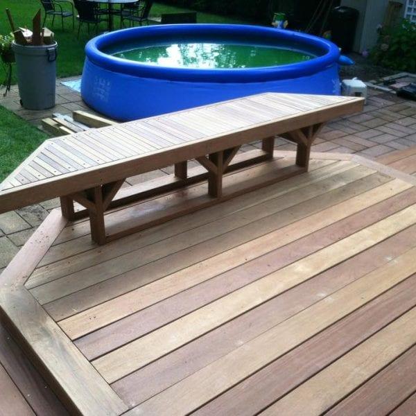 Custom Deck and Bench Design & Build Melrose MA