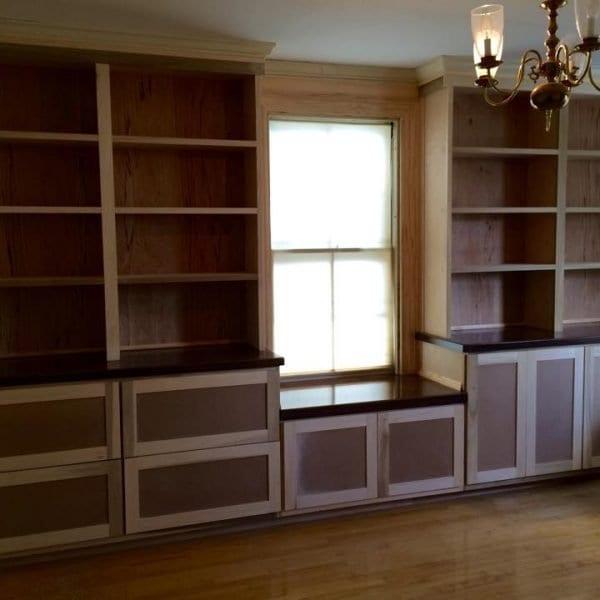 Custom Built-In Shelves & Drawer Storage Melrose MA